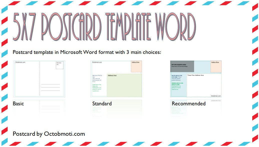 5x7 Postcard Template for Word 5x7 Postcard Template for Word Back Standard Usps Free