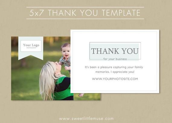 5x7 Postcard Template for Word Thank You Card Template 5x7 Photography Thank by