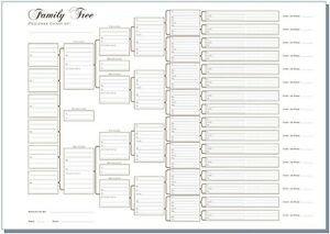 6 Generation Pedigree Chart A3 Six Generation Family Tree Chart Pedigree Pack Of 3