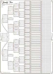 6 Generation Pedigree Chart Family Tree Chart Pact 8 Generation Pedigree Chart