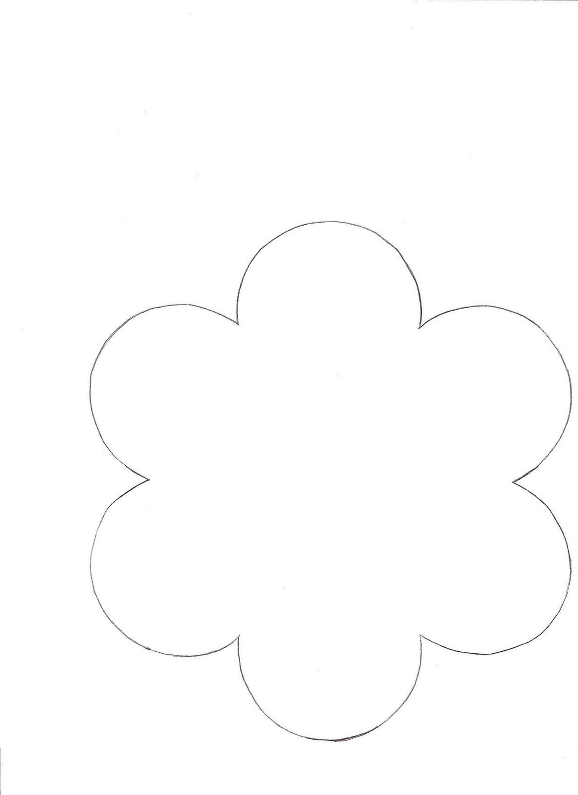 6 Petal Flower Template 1000 Images About Flower Templates On Pinterest