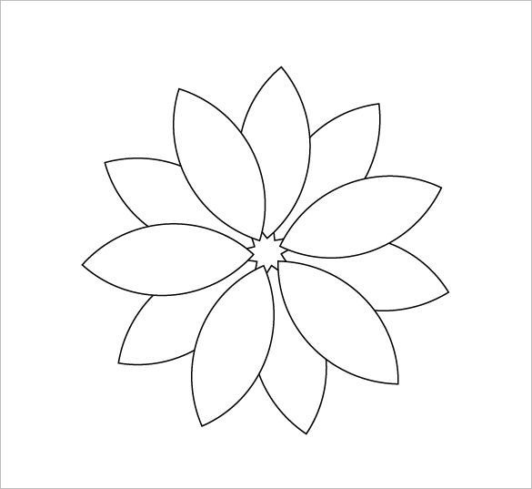6 Petal Flower Template 12 Printable Flower Petal Templates Free Download