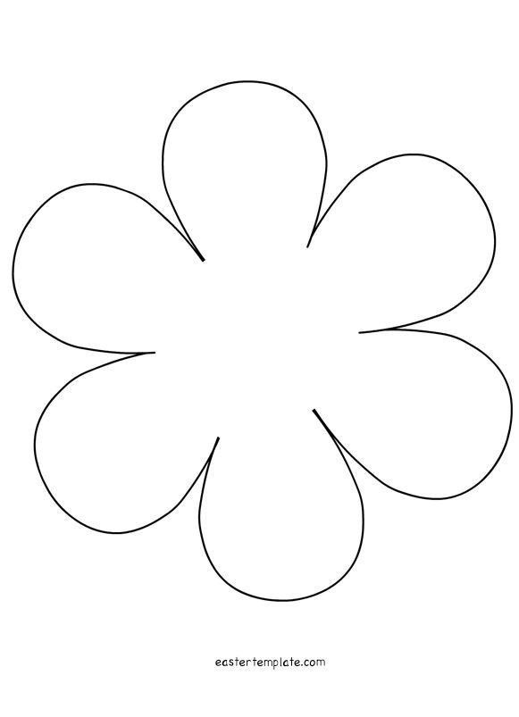 6 Petal Flower Template 6 Petal Flower Applique
