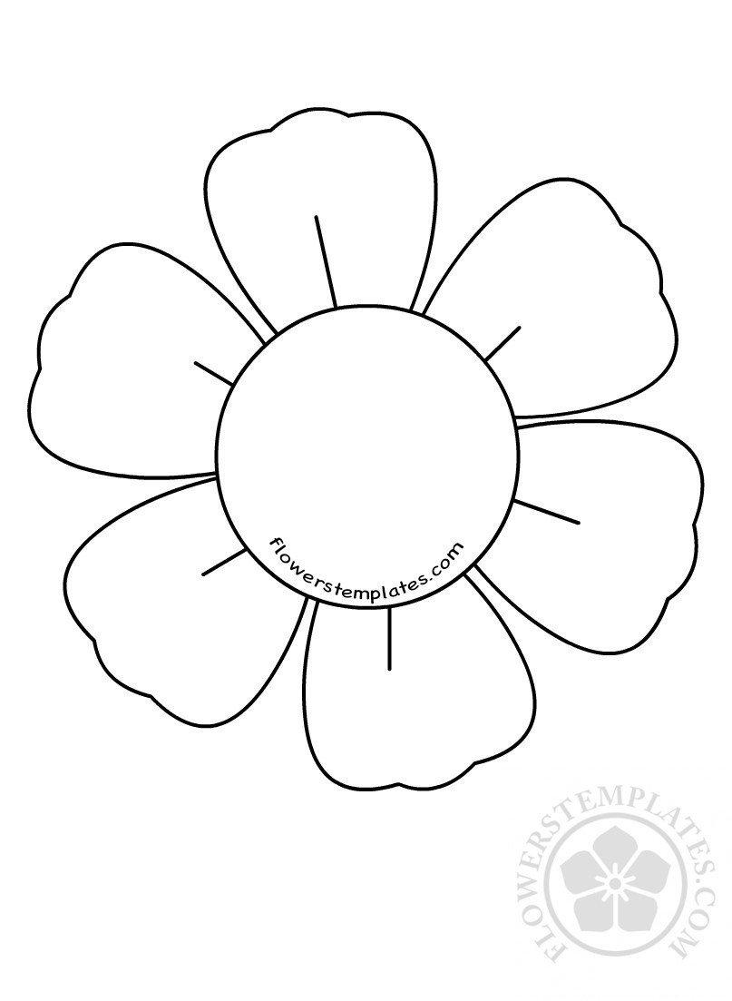 6 Petal Flower Template 6 Petal Flower Template Cuttable