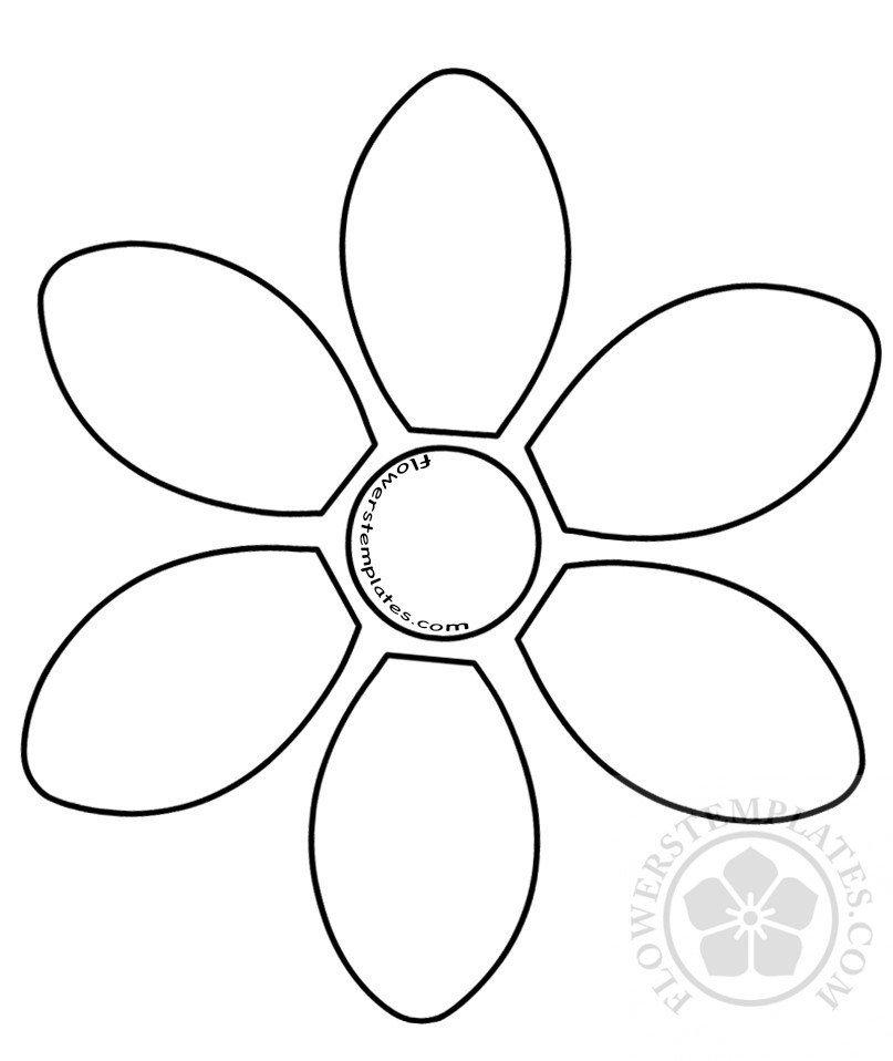 6 Petal Flower Template 6 Petal Flower Template