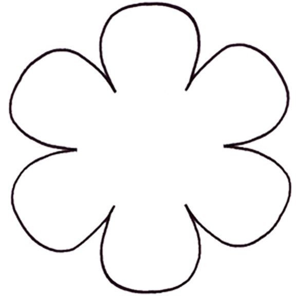 6 Petal Flower Template Best 25 Flower Petal Template Ideas On Pinterest