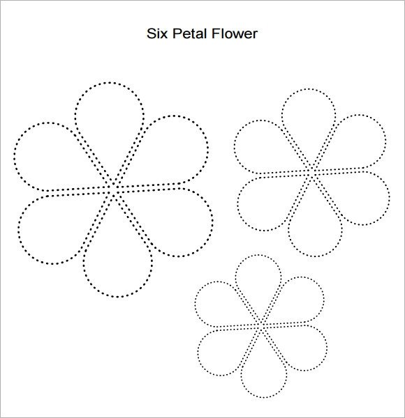 6 Petal Flower Template Flower Petal Template 9 Download Documents In Pdf Psd