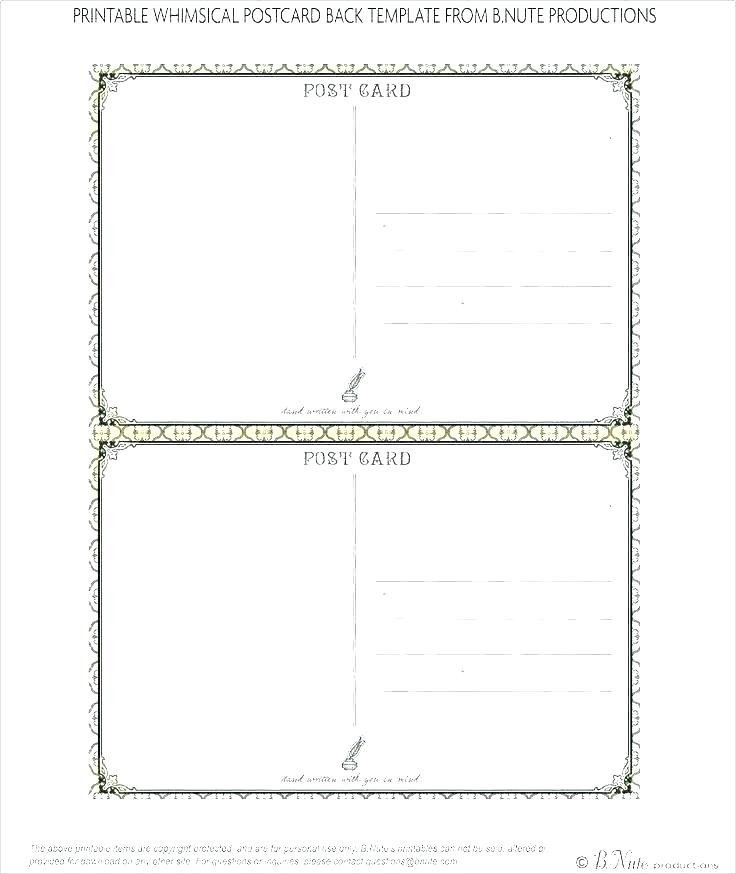 6 X 9 Postcard Template 52 6 X 11 Postcard Postal Regulations