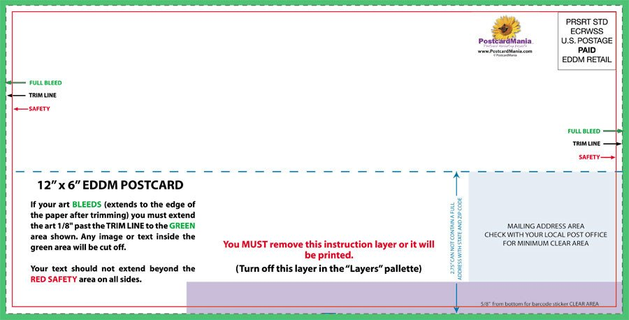 6 X 9 Postcard Template 6 X 11 Postcard Template