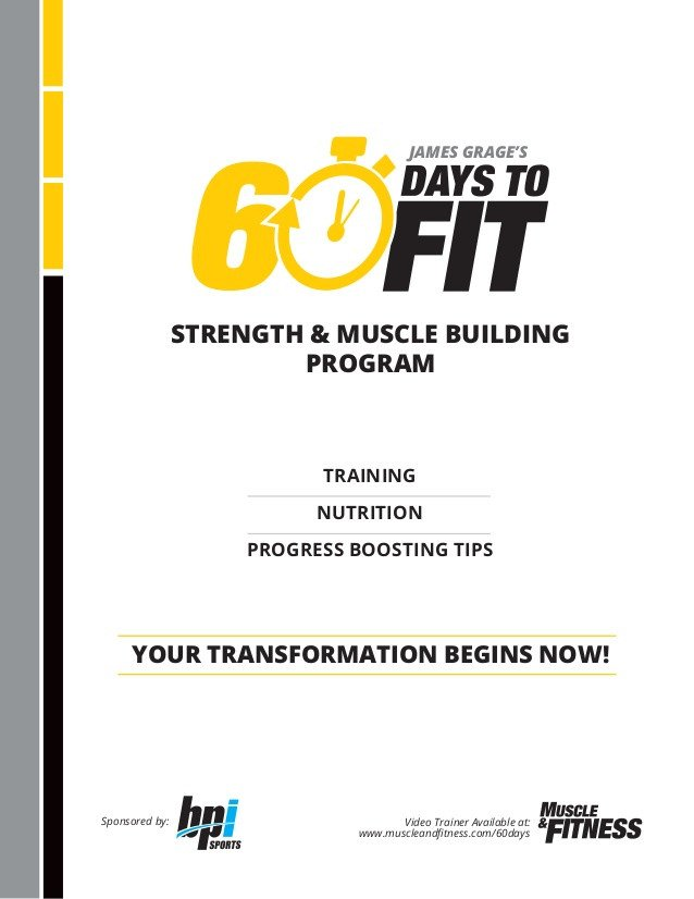 60 Day Workout Plan 60 Days to Fit Pdf Program
