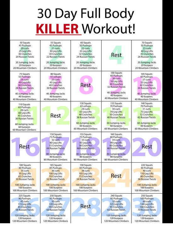 60 Day Workout Plan Best 25 at Home Workout Plan Ideas On Pinterest