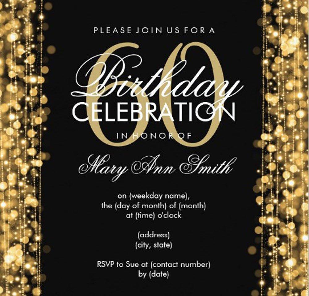 60 Th Birthday Invitation 20 Ideas 60th Birthday Party Invitations Card Templates