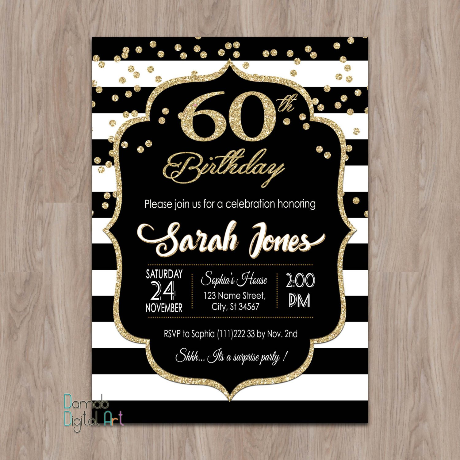 60 Th Birthday Invitation 60th Birthday Invitations 60th Birthday Invitations for