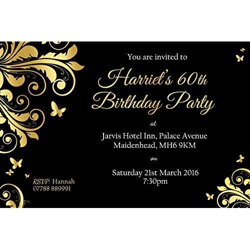 60 Th Birthday Invitation 60th Birthday Party Invitations Amazon