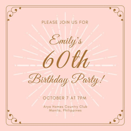 60 Th Birthday Invitation Customize 986 60th Birthday Invitation Templates Online