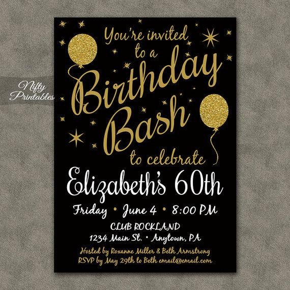 60 Th Birthday Invites 17 Best Ideas About 60th Birthday Invitations On Pinterest
