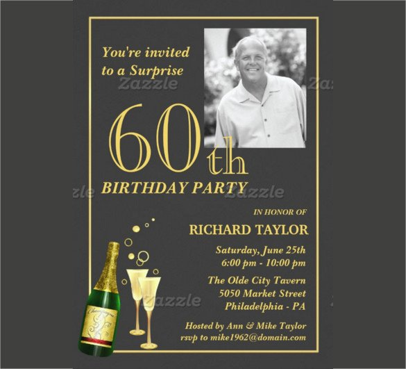 60 Th Birthday Invites 26 60th Birthday Invitation Templates – Psd Ai