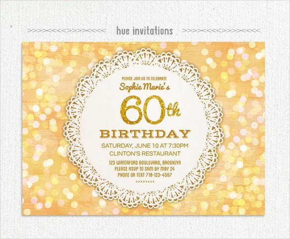 60 Th Birthday Invites 26 60th Birthday Invitation Templates – Psd Ai
