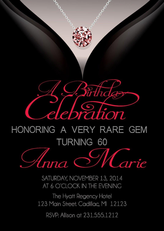 60 Th Birthday Invites 60th Birthday Invitations Adult Birthday Invitation