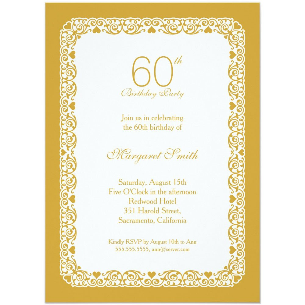 60th Birthday Invitation Template 20 Ideas 60th Birthday Party Invitations Card Templates
