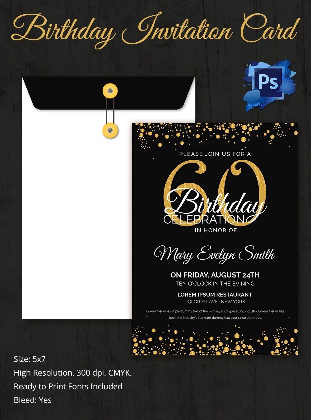 60th Birthday Invitation Template Birthday Invitation Template 32 Free Word Pdf Psd Ai