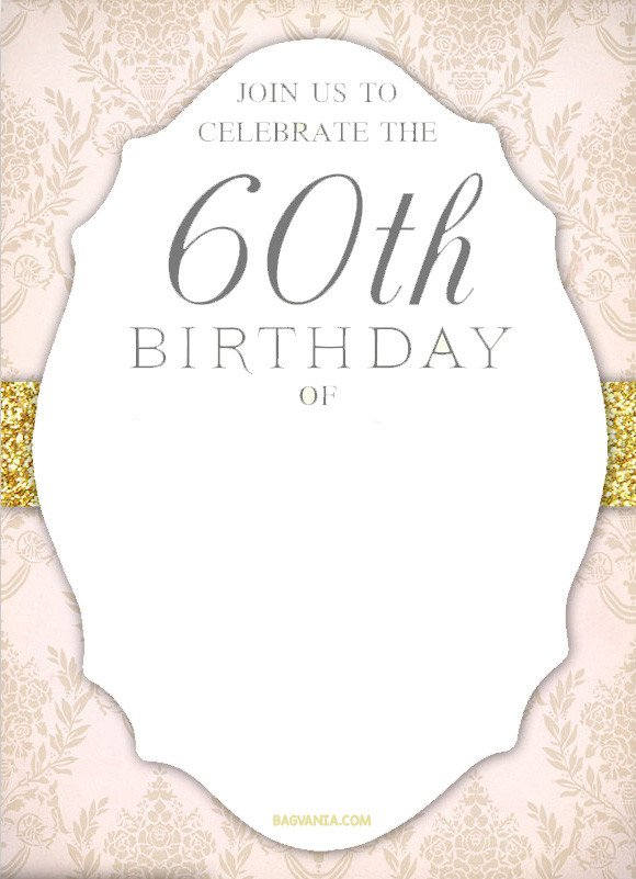 60th Birthday Invitation Template Free Printable 60th Birthday Invitation Templates