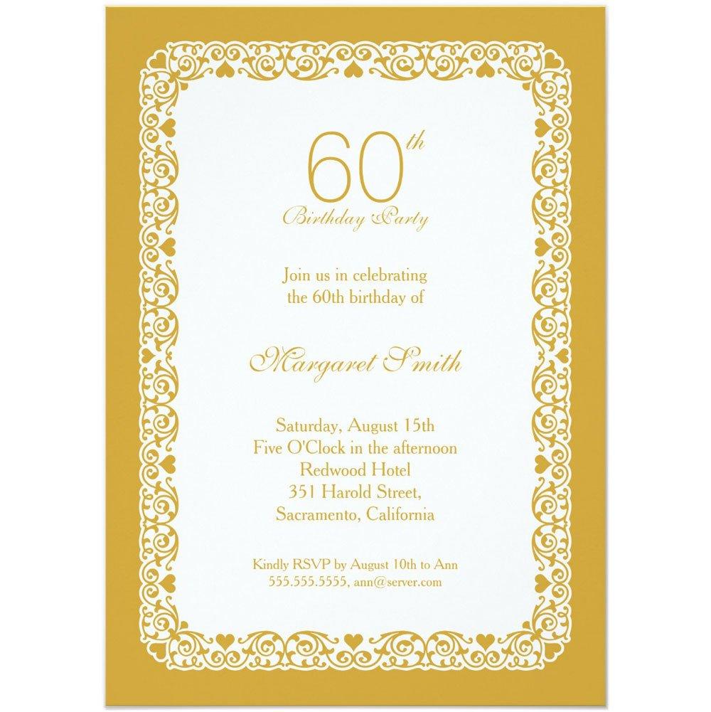 60th Birthday Invitations Template 20 Ideas 60th Birthday Party Invitations Card Templates