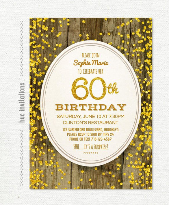 60th Birthday Invitations Template 26 60th Birthday Invitation Templates – Psd Ai