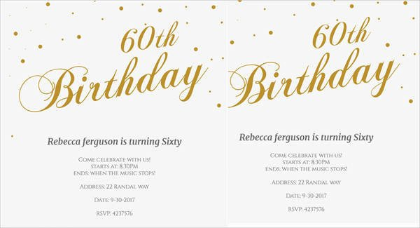 60th Birthday Invitations Template 40 Free Party Invitation Templates Psd Ai Vector Eps