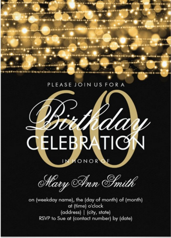 60th Birthday Invitations Template 49 Birthday Invitation Templates Psd Ai Word