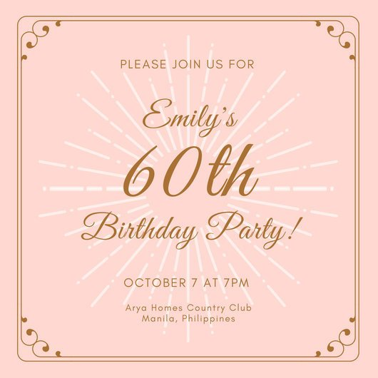 60th Birthday Invitations Template Customize 986 60th Birthday Invitation Templates Online