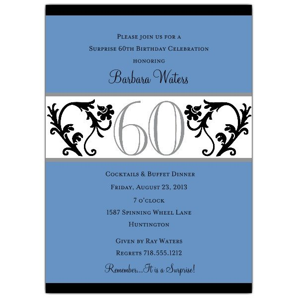 60th Birthday Program Sample Blue