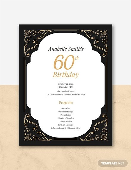 60th Birthday Program Sample Free 7th Birthday Program Template Download 31 Program