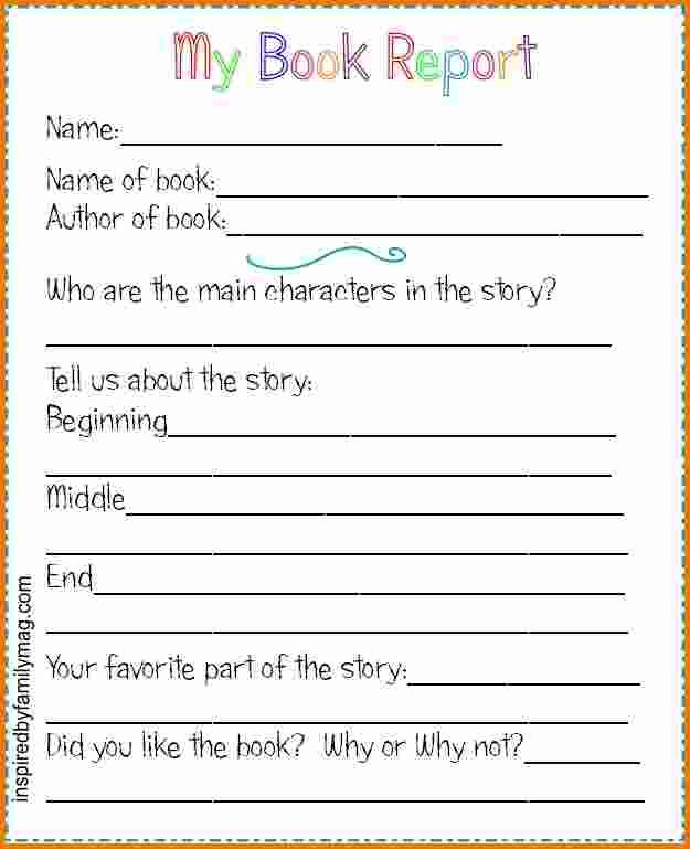 6th Grade Book Report Template Book Reports 24x7 Support Professional Speech Writers