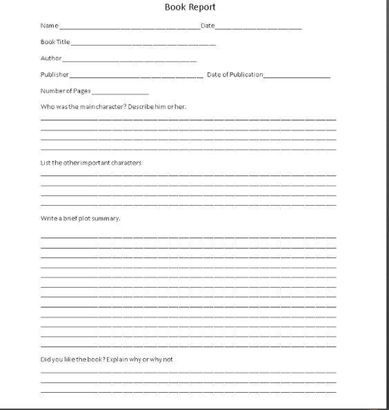 6th Grade Book Report Template Sixth Grade Book Report Template Writearticles X Fc2