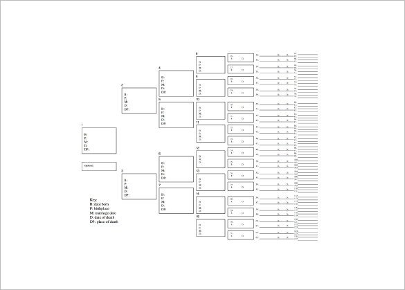 7 Generation Pedigree Chart Seven Generation Family Tree Template – 9 Free Word