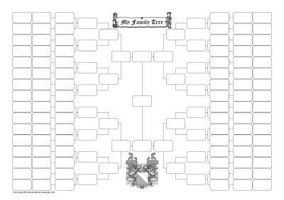 8 Generation Family Tree Template 7 Generation Creative Sticker Chart Parish Chest