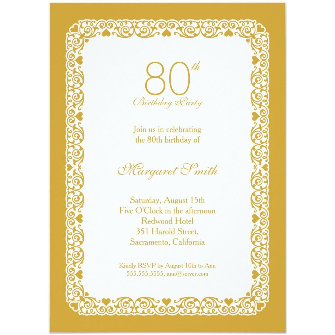 80th Birthday Invitation Templates 15 Sample 80th Birthday Invitations Templates Ideas