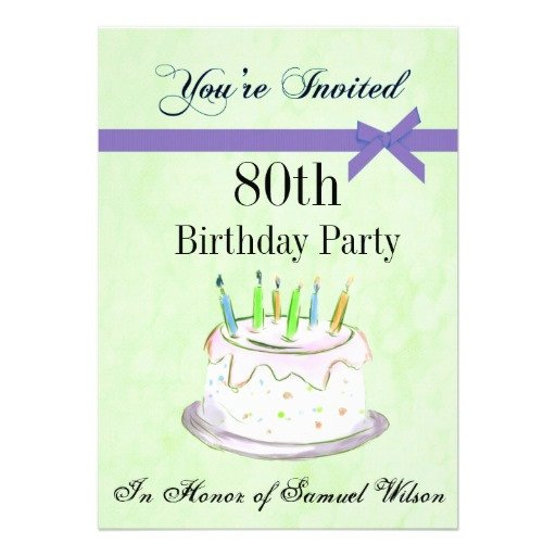 80th Birthday Invitation Templates 80th Birthday Invitations Templates Ideas