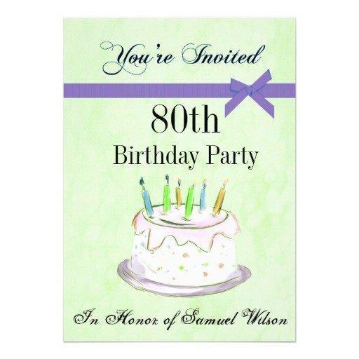 80th Birthday Invitation Templates 80th Birthday Invitations Templates Ideas