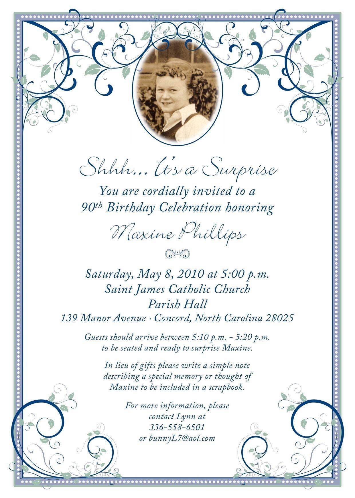 80th Birthday Invitation Templates 80th Surprise Birthday Invitation Wording