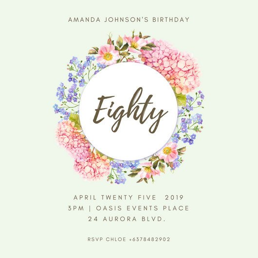 80th Birthday Invitation Templates Customize 985 80th Birthday Invitation Templates Online