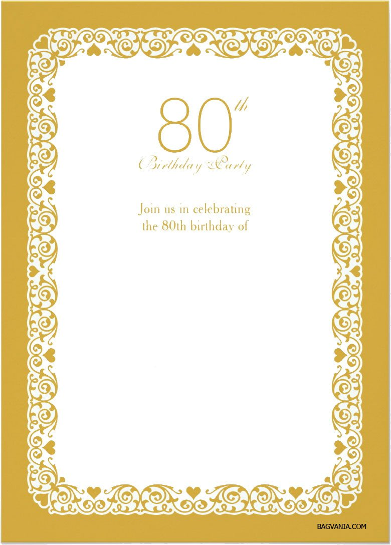 80th Birthday Invitation Templates Free Printable 80th Birthday Invitations – Free Printable