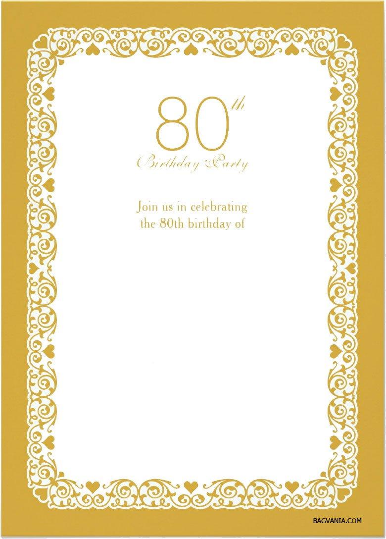80th Birthday Invitation Templates Free Printable 80th Birthday Invitations – Free Printable