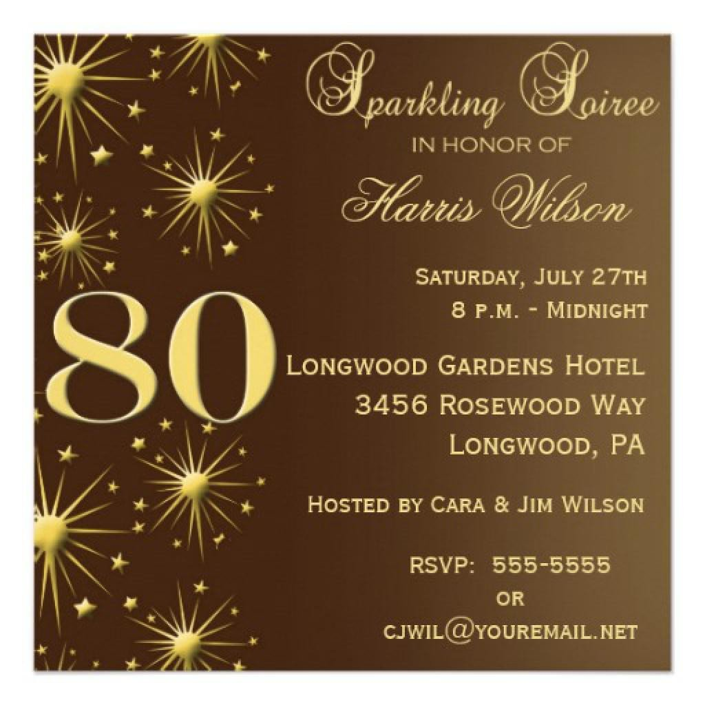 80th Birthday Invitations Templates Free 15 Sample 80th Birthday Invitations Templates Ideas