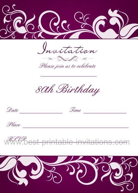 80th Birthday Invitations Templates Free 21 Best 40th Birthday Invitations Wording Images On