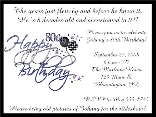 80th Birthday Invitations Templates Free 80th Birthday Invitation Templates Printable