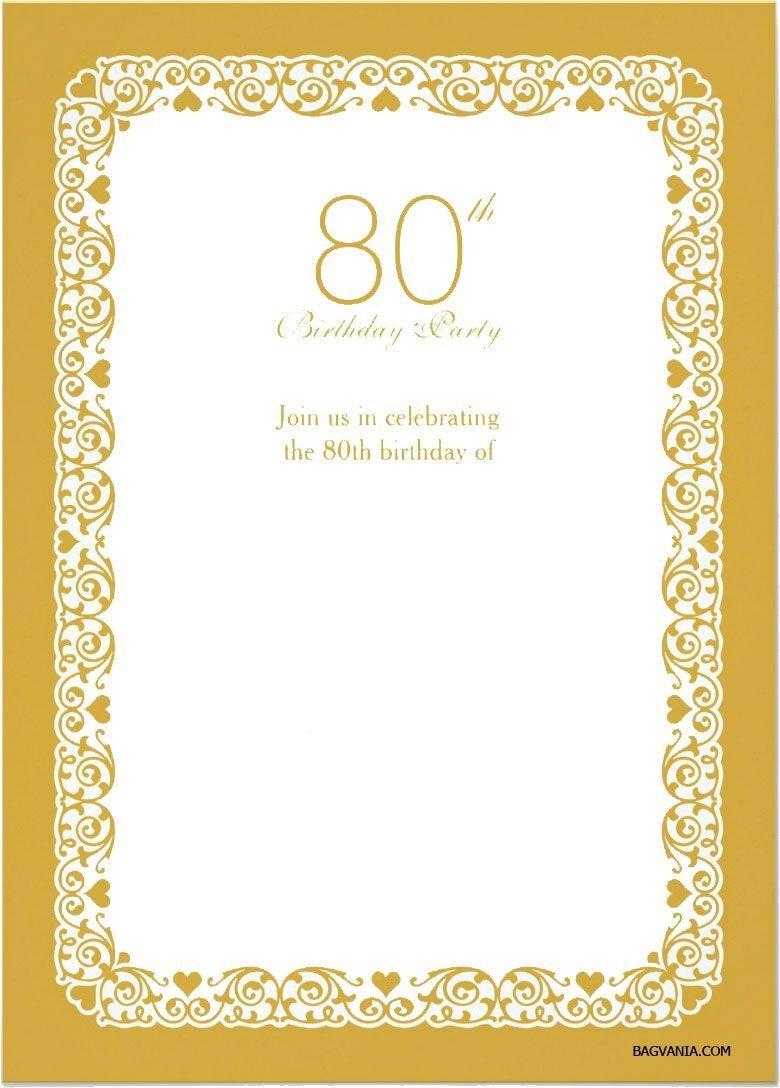 80th Birthday Invitations Templates Free Einladungen Geburtstag Vorlagen Kostenlos Downloaden