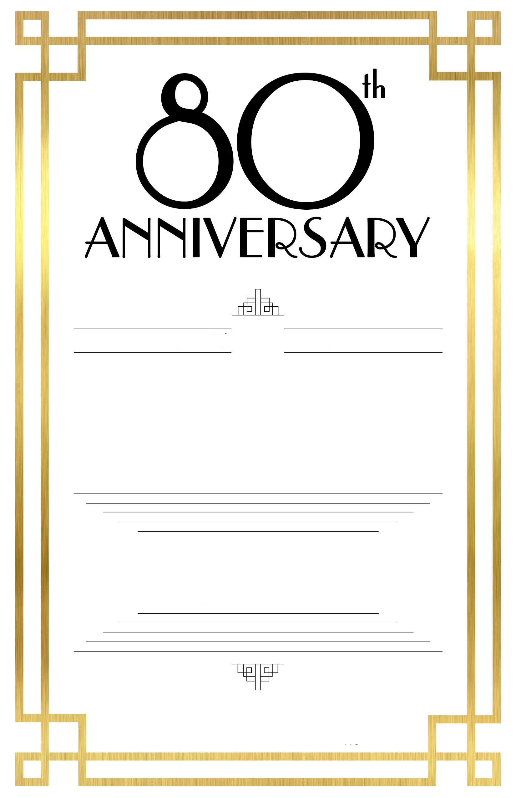 80th Birthday Invitations Templates Free Free Printable 80th Birthday Invitations – Bagvania Free