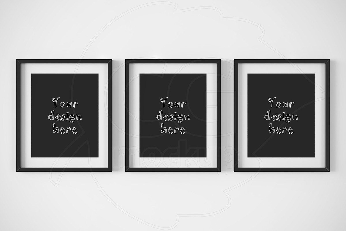8x10 Frame Mockup Free Artprint Mock Ups Printable S Set Of 3 Frame 8x10